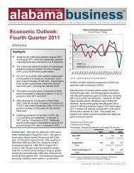 Fourth Quarter 2011 - UA Center for Business and Economic ...