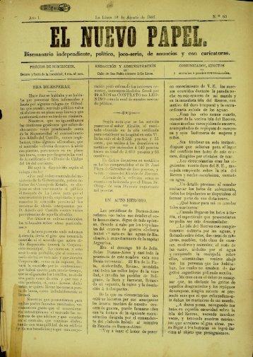 El Nuevo Papel del 18 de agosto 1887