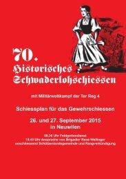 68. Historisches Schwaderloh- schiessen