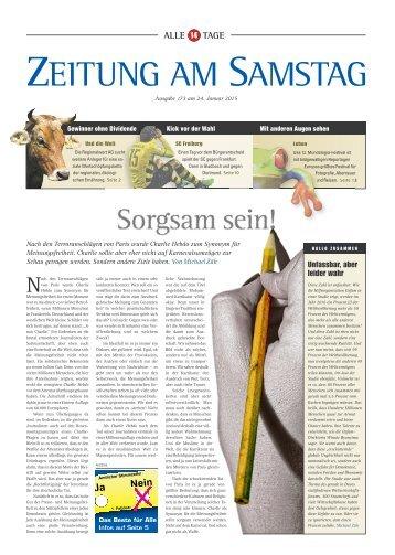 173. Ausgabe, 24.01.2015