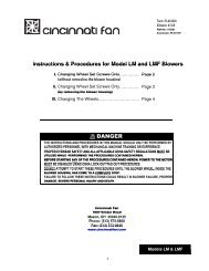 Instructions for Changing LM-LMF Wheels IPLM-0809 - Cincinnati Fan