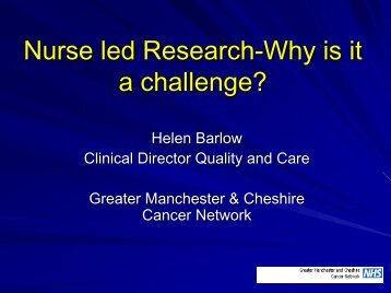 Nurse led Research-Why is it a challenge? - Institute of Health ...