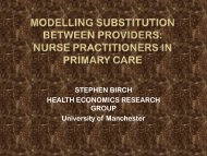 MODELLING SUBSTITUTION BETWEEN PROVIDERS: NURSE ...