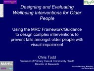 Designing and Evaluating Wellbeing Interventions for Older People