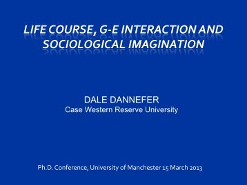 AGE AND THE REACH OF THE SOCIOLOGICAL IMAGINATION