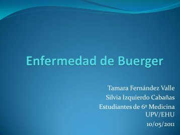 Enfermedad de Buerger - EXTRANET - Hospital Universitario Cruces