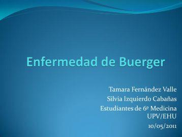 Enfermedad de Buerger - EXTRANET - Hospital Universitario Cruces