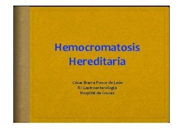 Hemocromatosis hereditaria. - EXTRANET - Hospital Universitario ...