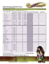 Salon/Individual Information Sheet - Thicken It