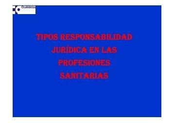 tipos responsabilidad legal en profesiones sanitarias - EXTRANET ...