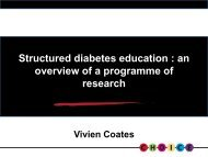 Evaluation of the Carbohydrate, Insulin, Collaborative Education ...
