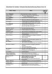 Page 1 Checkliste für Schüler: Fahrplan Berufsorientierung Klasse 6 ...