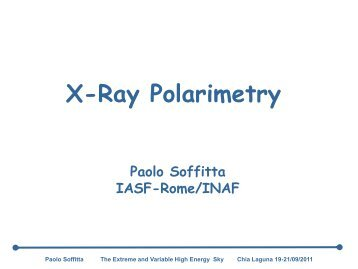 X-ray Polarimetry - INAF-IASF-Roma