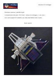 manuale istruzioni di montaggio Montiamo insieme il satellite Agile ...