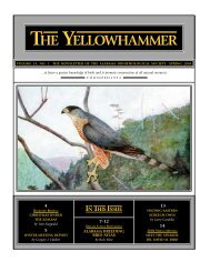 THE YELLOWHAMMER - Alabama Ornithological Society