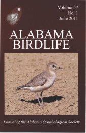 Vol. 57#1.indd - Alabama Ornithological Society