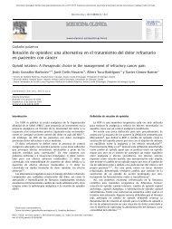 Rotación de opioides - EXTRANET - Hospital Universitario Cruces