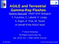 AGILE and Terrestrial Gamma-Ray Flashes