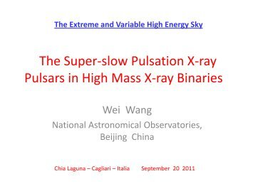The Super-slow Pulsation X-ray Pulsars in High ... - INAF-IASF-Roma