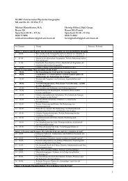 SS 2007 Unterseminar Physische Geographie