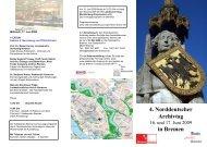 4. Norddeutscher Archivtag Programm (pdf, 1.9 MB) - Staatsarchiv ...