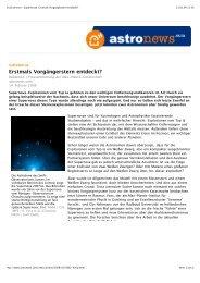 Druckversion - Supernovae: Erstmals ... - Universe Cluster