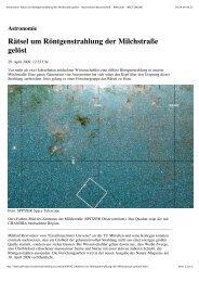 Nachrichten Wissenschaft - Weltraum - WELT ... - Universe Cluster