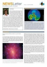 NEwSletter - Universe Cluster