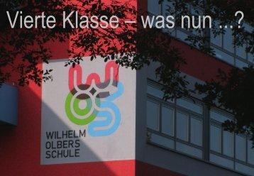 Vierte Klasse, was nun? --- Wilhelm-Olbers-Schule - Schulzentrum ...