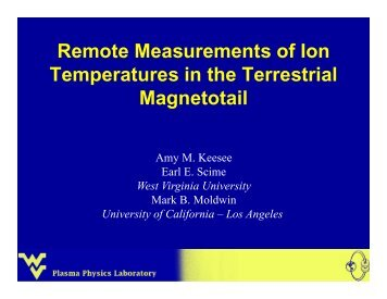 Remote Measurements of Ion Temperatures in the Terrestrial ...