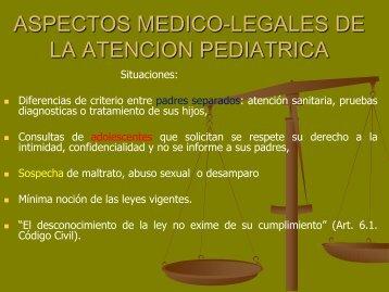 aspectos medico-legales de la atencion pediatrica - EXTRANET ...