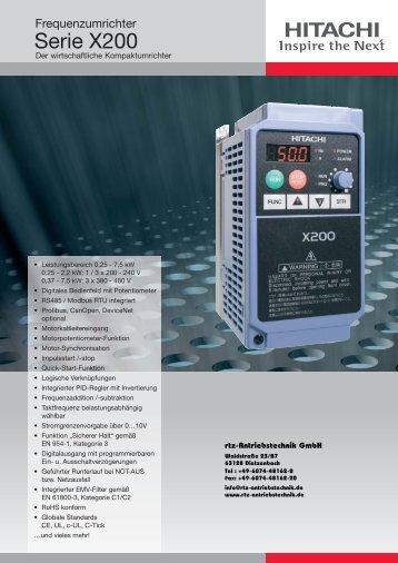 Frequenzumrichter Hitachi - rtz Antriebstechnik GmbH