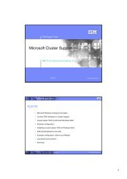 Microsoft Cluster Support - Nordic TWS conference