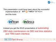 DB2 daily maintenance via DB2 real time statistics and TWS batch ...