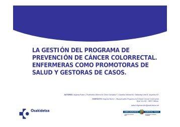 Gestion del programa de prevencion de cancer colorrectal