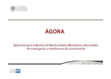 ÁGORA - CTT - UPV