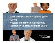 Standard Operating Procedures - SOP-08
