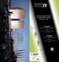 programma - PDF - Festival UN FILM PER LA PACE