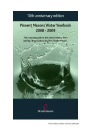 2008 - 2009 - Pinsent Masons Water Yearbook 2012 - 2013