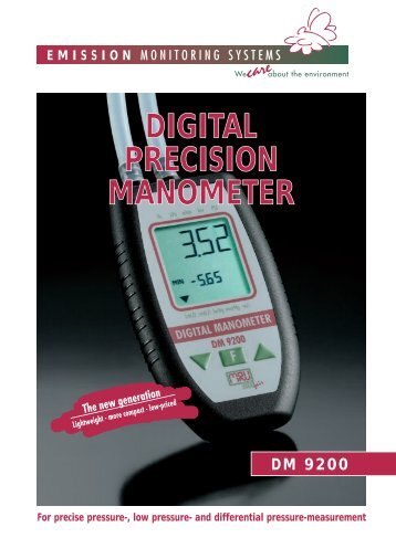 Digital Precision Manometer DM 9200