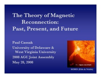 The Theory of Magnetic Reconnection - Plasma Physics at West ...