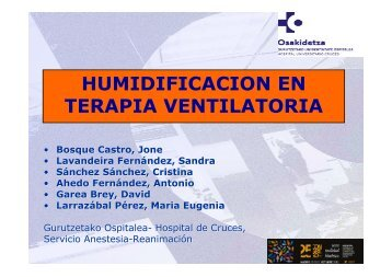 humidificacion en terapia ventilatoria - EXTRANET - Hospital ...