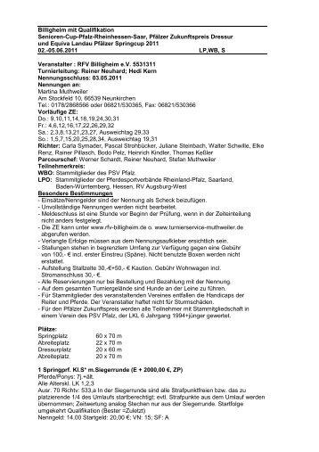 Billigheim RFV-1 - RFV Billigheim