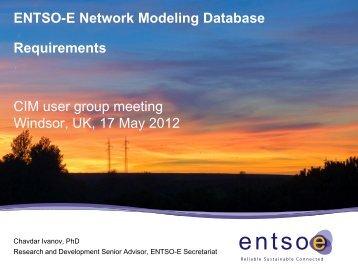 AM3_ENTSO-E Network Modeling Database ... - CIMug