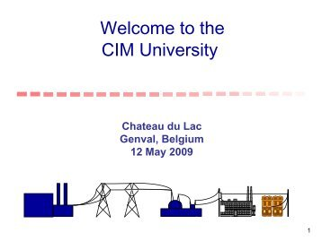 01 Introduction to CIM May 2009 - CIMug - UCAIug