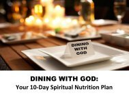 DINING WITH GOD: Your 10-Day Spiritual Nutrition Plan