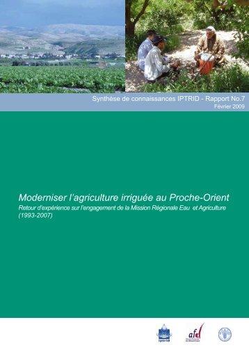 Moderniser l'agriculture irriguée au Proche-Orient - ACT - Advanced ...