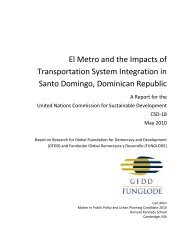 El Metro and the Impacts of Transportation System ... - GFDD