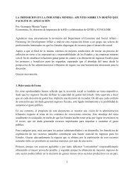 LA IMPOSICION EN LA INDUSTRIA MINERA: APUNTES ... - GFDD