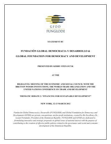fundación global democracia y desarrollo & global foundation for ...
